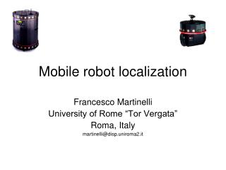 Mobile robot localization