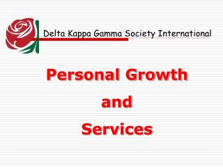 Personal Growth  and  Services
