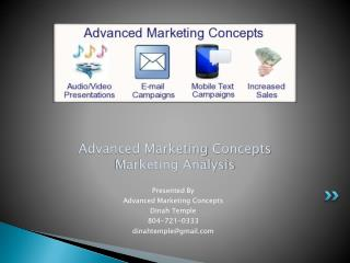 Advanced Marketing  Concepts Marketing Analysis