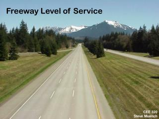 Freeway Level of Service