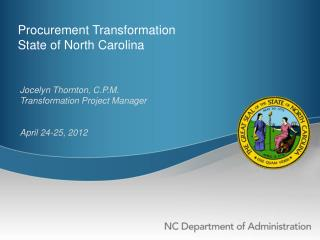 Procurement Transformation State of North Carolina