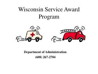 Wisconsin Service Award Program