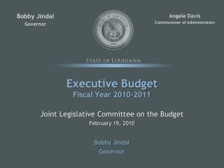 Executive Budget Fiscal Year 2010-2011