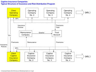 Captive Insurance Companies Typical Structure of Insurance and Risk Distribution Program