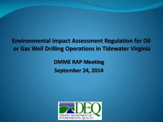 DMME RAP Meeting September 24, 2014