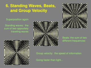 6. Standing Waves, Beats, and Group Velocity