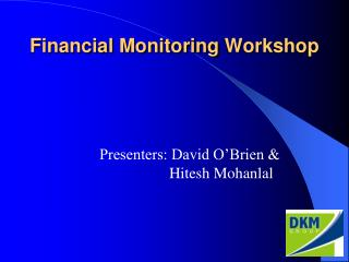 Financial Monitoring Workshop