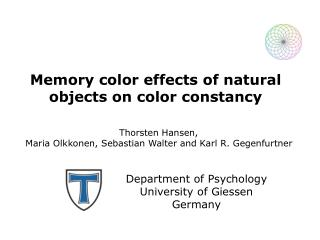 Memory color effects of natural objects on color constancy
