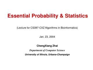 Essential Probability & Statistics