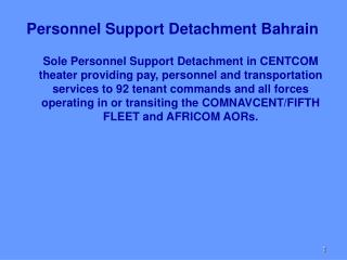 Personnel Support Detachment Bahrain