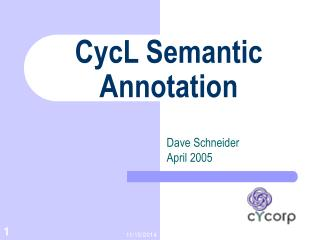 CycL Semantic Annotation