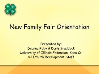 New Family Fair Orientation