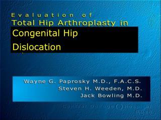 Congenital Hip Dislocation