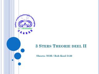 3  Sters Theorie deel  II