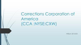 Corrections Corporation of America  ( CCA : NYSE:CXW)