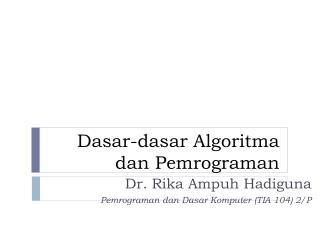 Pemrograman & algoritma