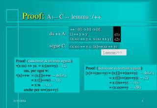Proof:  A |  C -- lemma :/++