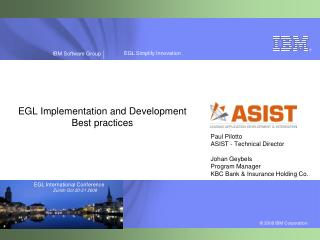 EGL Implementation and Development Best practices