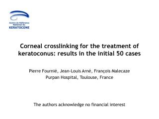 Corneal crosslinking for the treatment of keratoconus: results in the initial 50 cases