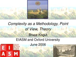 Complexity as a Methodology, Point of View, Theory