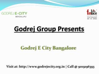 Godrej E City, Godrej E City Bangalore - Electronic City