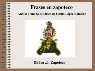 Frases en zapoteco