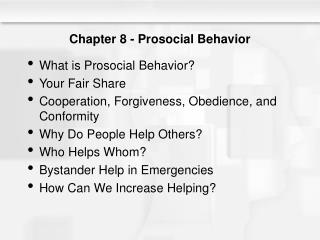Chapter 8 - Prosocial Behavior