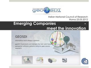 Emerging Companies                         - meet the innovation