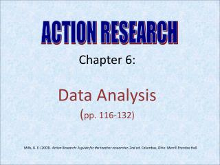 Chapter 6:  Data Analysis  ( pp. 116-132)