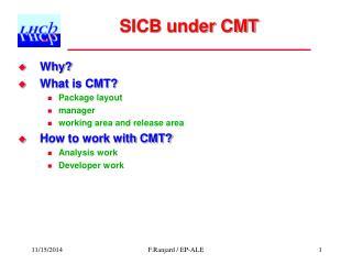 SICB under CMT