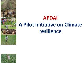 APDAI A Pilot initiative on Climate resilience