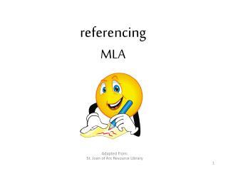 referencing MLA