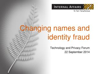 Changing names and identity fraud