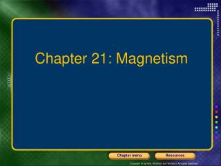 Chapter 21: Magnetism