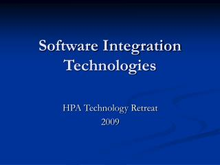 Software Integration Technologies