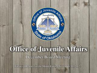Office of Juvenile Affairs
