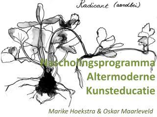 Nascholingsprogramma Altermoderne  Kunsteducatie