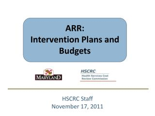 ARR: Intervention Plans and Budgets