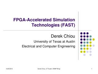FPGA-Accelerated Simulation Technologies (FAST)