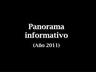 Panorama informativo (Año 2011)