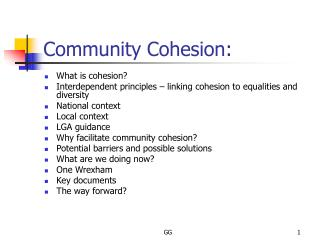 Community Cohesion: