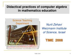 Didactical practices of computer algebra  in mathematics education