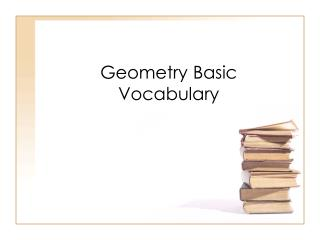 Geometry Basic Vocabulary