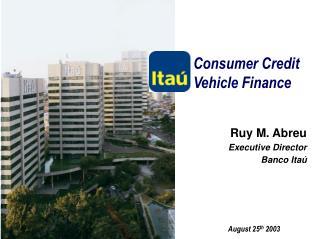 Consumer Credit Vehicle Finance