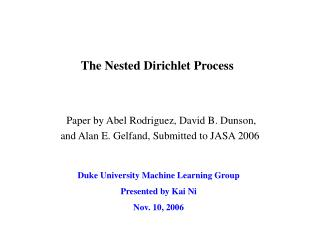 The Nested Dirichlet Process