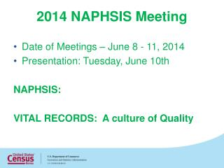 2014 NAPHSIS Meeting