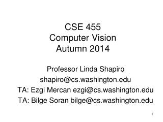 CSE 455 Computer Vision Autumn 2014