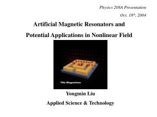 Artificial Magnetic Resonators and Potential Applications in Nonlinear Field