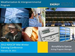 Weatherization & Intergovernmental Program