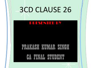 3CD CLAUSE 26